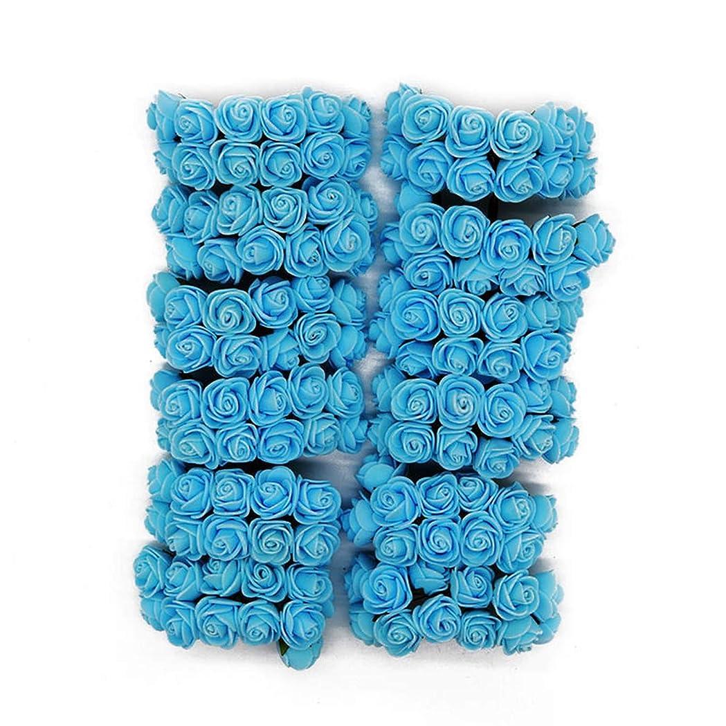 考慮トピック平均Love Rose Bear 144Pcs Foam Bear Rose Decoration PE Foam Rose Head Fake Flower Handmade Wedding Decoration Srapbooking Gift Box Diy Wreath-Light Blue-、