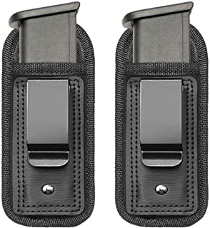 TACwolf 2 Pack IWB Inside Waistband Pistol Handgun Magazine Holster Pouch for Concealed..