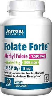 Jarrow Formulas Folate Forte, Promotes Cardiovascular Function and Neurologic Health, 30 Tablets