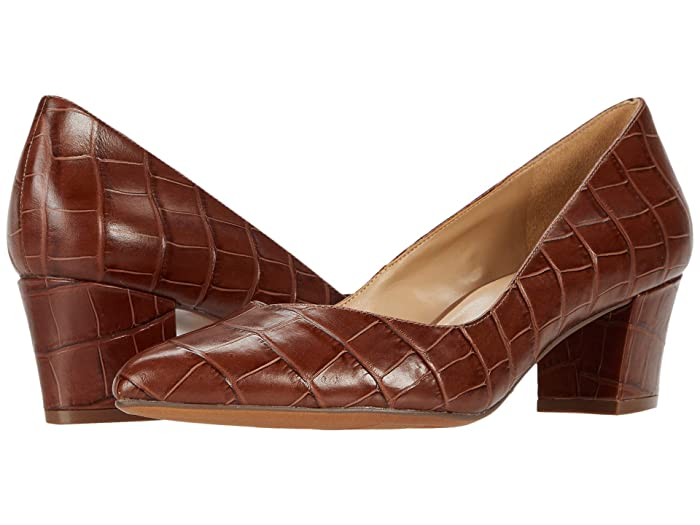 Vintage Heels, Retro Heels, Pumps, Shoes Naturalizer Mali Lodge Brown Glazed Croco Womens Shoes $119.95 AT vintagedancer.com