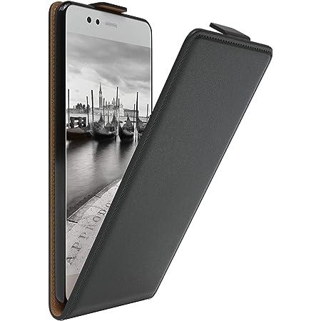 Mumbi Echt Leder Flip Case Kompatibel Mit Huawei P10 Hülle Leder Tasche Case Wallet Schwarz Elektronik