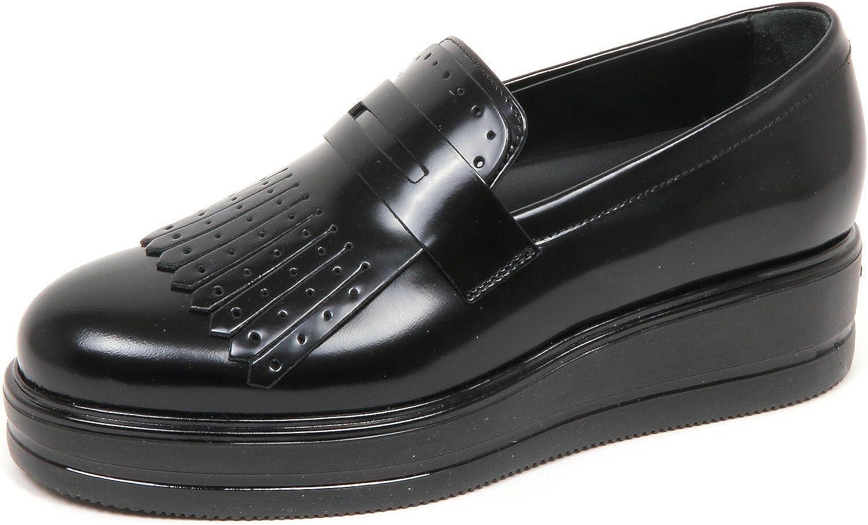 Hogan E4592 Mocassino Donna Nero H323 Scarpe Frangia Shoe ...