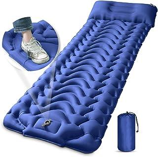 تخت خواب کمپینگ ، MEETPEAK Extra Thickness 3.9 اینچ تختخواب بادی با پمپ داخلی ، تشک کمدی کاملاً جمع و جور ضد آب کامپکت ضد آب برای کوله پشتی ، پیاده روی ، چادر ، مسافرت