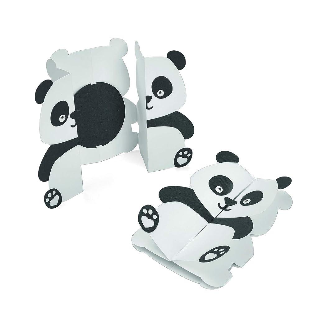 Sizzix 663574 Card Panda Fold-a-Long Dies, One Size, Multicolor