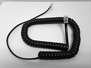 The VoIP Lounge 9 Ft Black Handset Curly Cord for Avaya 9600 IP & 9500 Digital Series Phones 9608, 9610, 9620, 9620C, 9621G, 9630, 9630G, 9640, 9640G, 9650, 9650C, 9508, 9504
