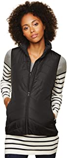 Women's Maternity Thin Puffer Vest with Chevron Quilting