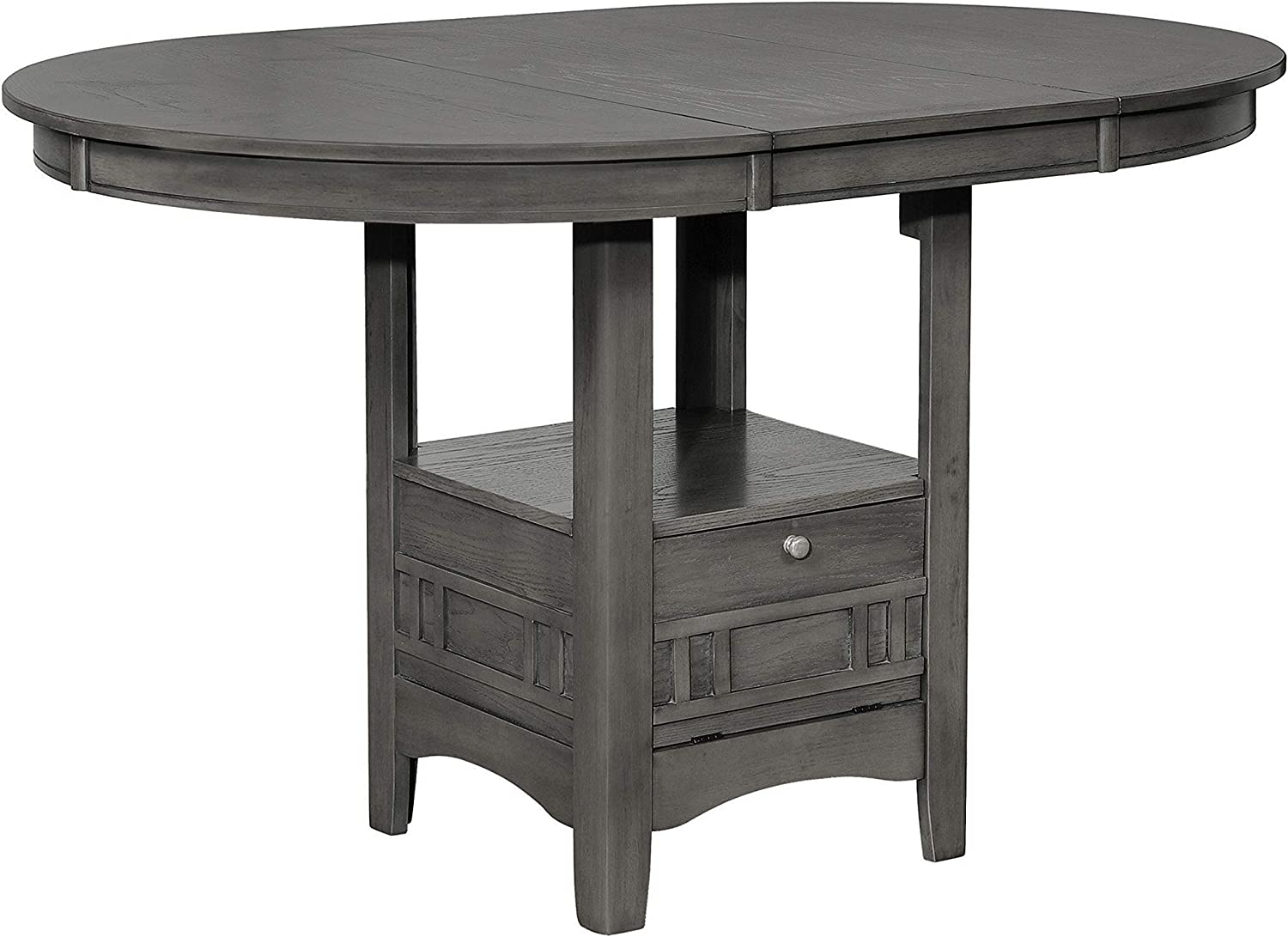 Coaster Home Furnishings LAVON Oval Medium Grey Counter Height Table