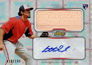 2013 Topps Finest Jumbo Relics Xfractor #AJR-AR2 Anthony Rendon Certified Autograph Game Used Bat Baseball Rookie Card - Only 149 made!