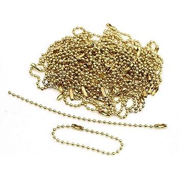 CCINEE ボールチェーン コネクター付き 12cm (ゴールド 100PCS)