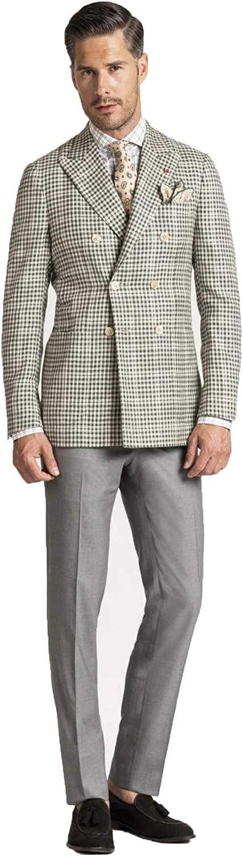 Men Check Suits Slim Fit 2 Pieces Blazer Pant Fashion Comfortable Business Suits Slim fit