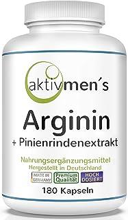 aktivmen´s Arginin plus Pinienrindenextrakt hochdosiert – 180 Kapseln –..