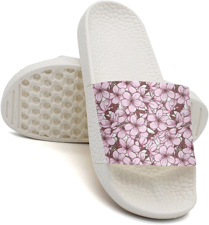 Qiopw rtw Bathroom Shower Non-Slip Sandal Cherry Blossom Sakura Figure Indoor Slipper shoes for Women Girls