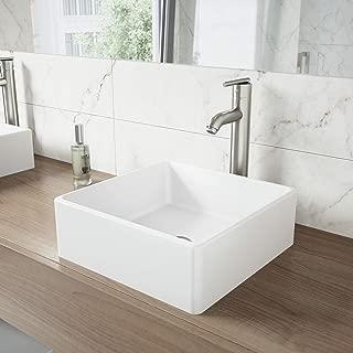 VIGO Bavaro Matte Stone Vessel Bathroom Sink