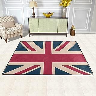 CENHOME Area Rugs I Love The UK Vintage British Flag Floor Mat Indoor/Outdoor Non Slip Rugs Home Entryway Carpet Doormat