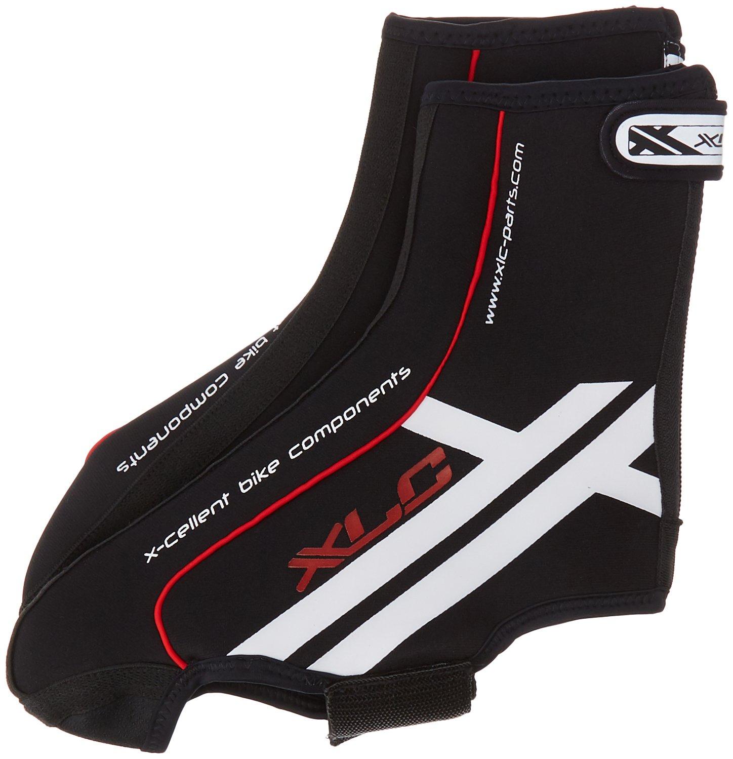 XLC Cyclebooties BO-A01 Überziehschuh, schwarz/Rot/Weiß, 39/40