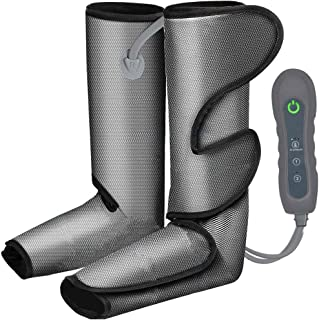 Foot and Leg Massager for Circulation and Relaxation,Rechargable Leg Massagers for Foot Calf and Leg with Hand-held Contro...