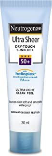 Neutrogena Ultra Sheer Dry Touch Sunblock SPF 50+ Sunscreen For Women And Men, 30ml