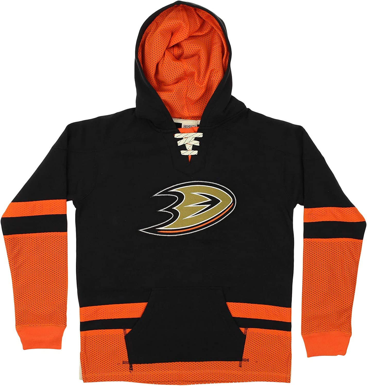 Anaheim Ducks Jersey Lace-Up Pullover Hoodie