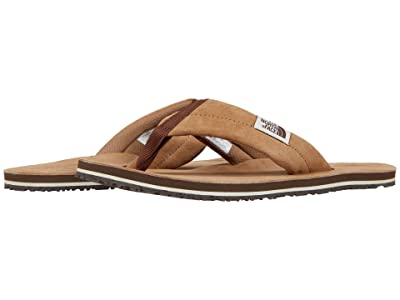 The North Face Base Camp Leather Flip-Flop (Cargo Khaki/Potting Soil) Men