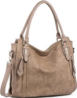 Handbags for Women Shoulder Tote Zipper Purse PU Leather Top-handle Satchel Bags Ladies Medium Uncle.Y