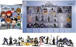 Mini Figure Exclusive Series Kingdom Hearts Disney Nano Action 20 Pack Mickey Sora Riku Namine Pete Donald Dusk Goofy + Blind Bag Figural Backpack 3D Hanger Collectible Pack Game Gear Bundle