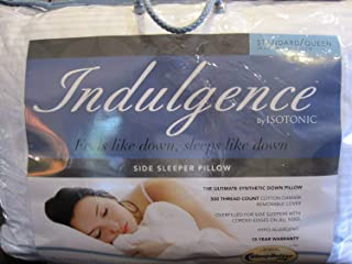 Indulgence By Isotonic Side Sleeper Standard/queen Pillow
