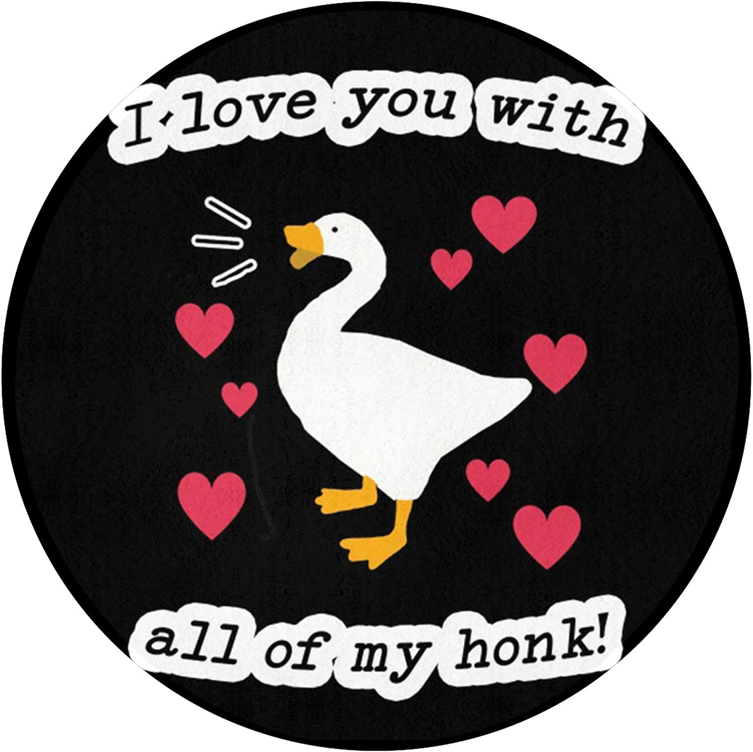 FRSH Sale SALE% OFF MNT I Love You with All Mat Durable My of Financial sales sale Round Non-Sl Honk