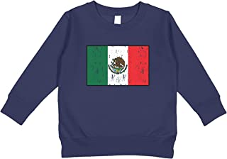 Amdesco Mexico Flag Mexican Toddler Sweatshirt