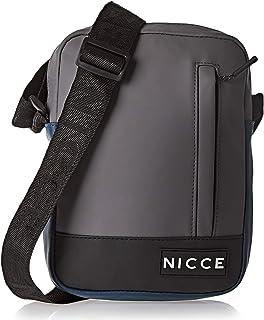 NICCE MENS SEASONAL SMALL ITEMS BAG PITAM086-DEEP NAVY,GREYBLACK