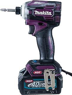 マキタ インパクトドライバ40VmaxTD001紫 トルク220Nm 2.5Ahバッテリ2本・充電器付 TD001GDXAP