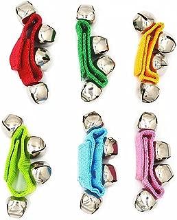 QCKJ Anillo de Campana de muñeca con Velcro de Nylon para niños, Pulsera de Juguete con Anillo de Serpiente de Cascabel, Color al Azar, Pulsera de Campana de Longitud Ajustable (Paquete de 6)