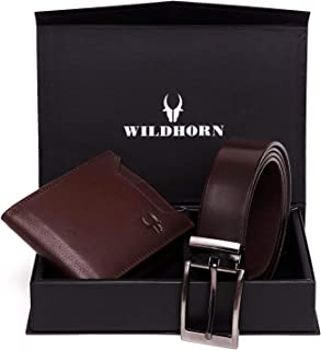 Wildhorn Old River Brown Genuine Quality Men's Leather Wallet And Belt Combo