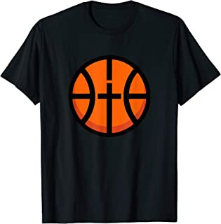 Christian Basketball Fun Cross Ball Icon Modern Sport Tshirt