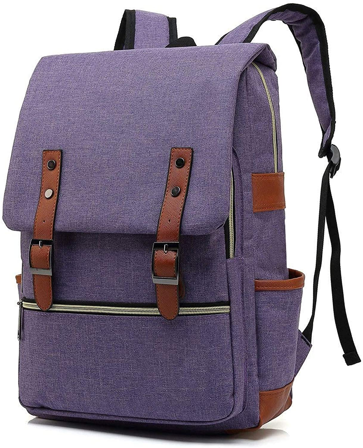 XHHWZB Vintage Laptop Backpack for Women Men,School College Backpack Fashion Backpack Fits 15 inch Notebook