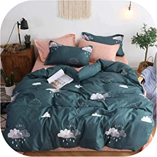 Comforter Sets Plant Green Cactus Bedding Sets Queen Size Quilt Cover Pillowcase Bed Cover Set for Kids Single Bed Linen,Yd,Double 4Pcs,Flat Bed Sheet