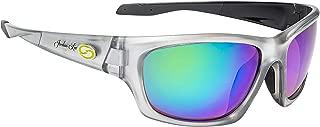 Strike King Lures, Jordan Lee Pro Series Sunglasses, Shinny Crystal Clear Frame, Amber Lens