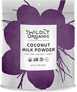 100% Certified Organic Coconut Milk Powder, Vegan, Dairy-Free, 8 Ounces