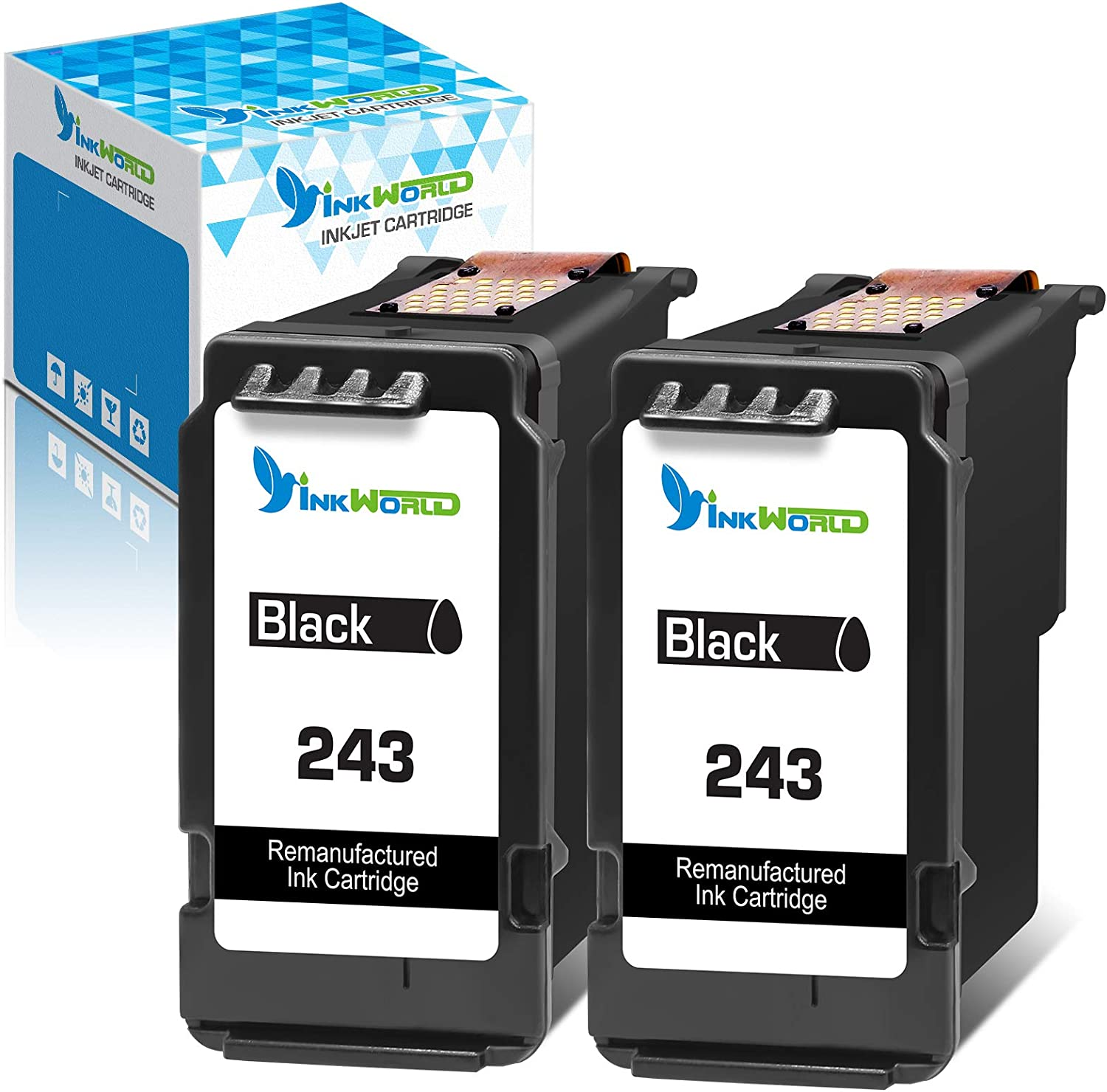 InkWorld Remanufactured Kansas shop City Mall 243 Ink Replacement Canon for Cartridge