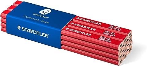 Metrica 51040 Blister 6 crayons menuisier 18 cm Rouge