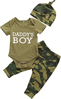 ملابس داخلية للأطفال حديثي الولادة مطبوع عليها مقولات للأم وبنات وأولاد ملابس داخلية مموهة + مجموعة ملابس رومبير