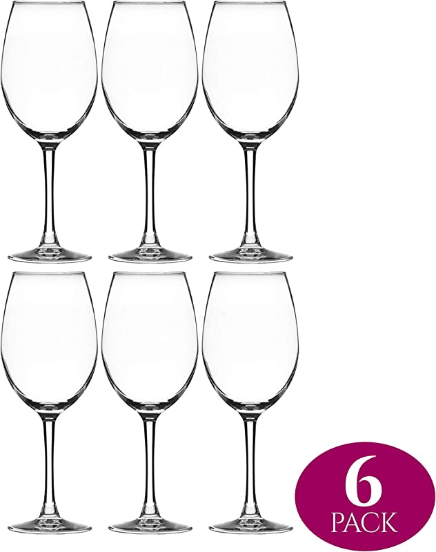 Element Drinkware Stemmed Wine Glass 16 Ounce Crystal Clear Classic Design Perfect For Red Wines White Wines At Your Next Elegant Dinner Party Or Event Elongated Bowl Design Snifter Set Of 6