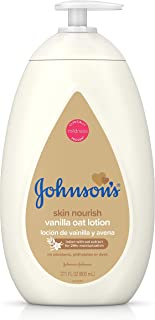 Johnson's Moisturizing Baby Body Lotion with Vanilla & Oat Extract for Dry Skin, 27.1 fl. oz