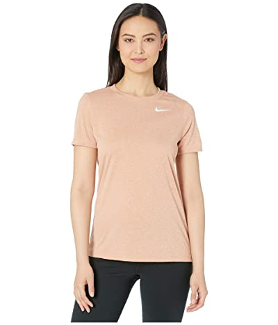 Nike Dry Legend Tee Crew (Rose Gold/Heather) Women