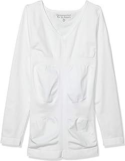 [アンダーウエアーエクスチェンジ] 加圧インナー 強加圧インナー Tシャツ 長袖V首 姿勢補正サポート 引き締め メンズ 33142-21130 ホワイト 日本 L (日本サイズL相当)