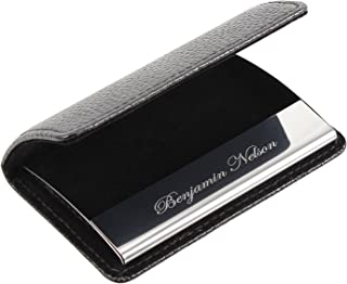 Business Card Holder-Leather Business Card Case for Men-Customized Gift
