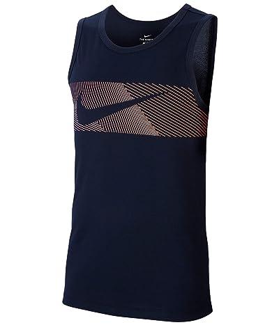 Nike Dri-FITtm Cotton Tank Linear Vision (Obsidian) Men