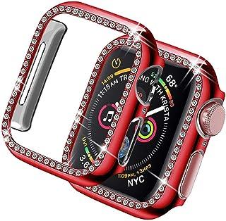 ZAALFC Cubierta de la Caja de Diamantes para Apple Watch Series 6 SE 5 4 3 2 Protector de Pantalla Bumper Shell Frame para...