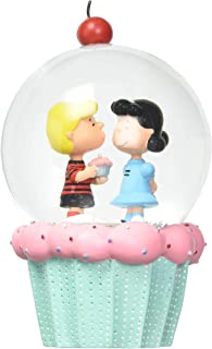 Department 56 Peanuts Schroeder and Lucy Cupcake Waterglobe