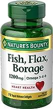 Nature's Bounty - Fish, Flax, Borage 1200 mg. - 72 Softgels