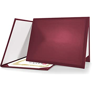 Graduationmall Diploma Cover Certificate Holder Graduation Covers For A4 Paper Classic Smooth Maroon Amazon Co Uk Office Products